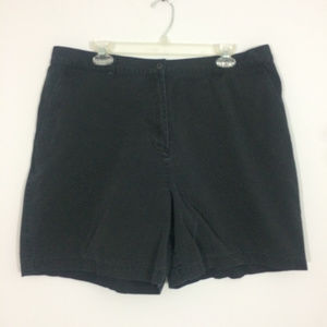 LRL Ralph Lauren Womens Plus Size 18W Black Shorts